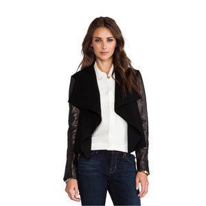 Diane Von Furstenberg Olympia Leather sleeve jackt